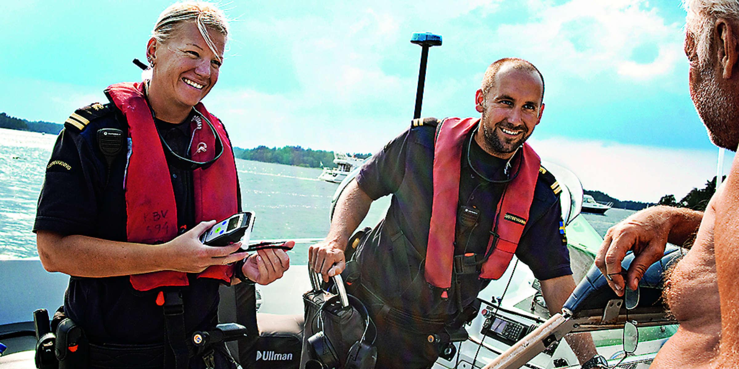 Sjöfyllerikontroll Foto Kustbevakningen